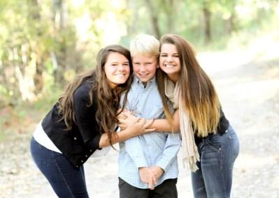Grandchildren Mac, Sam, Allie