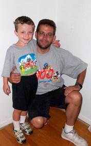 Grandson William and son Mark