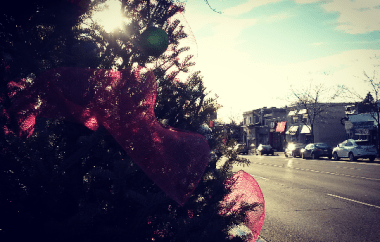 Lakeshore Rd. in Port Credit is decked out for Christmas. (Photo: Kelly Roche/QEW South Post)