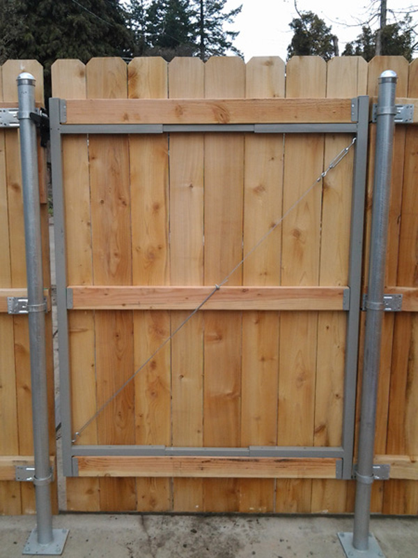 How To Attach Wood Pickets To A Metal Gate