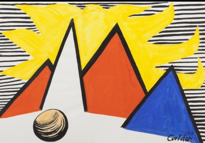 Alexander Calder, Great Yellow Sun, 1973, gouache and ink on paper, 74,5 x 109,5 cm