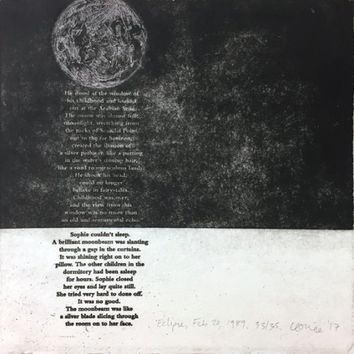 Leonie-Connellan--Ronald-Dahl--Eclipse,-Feb-20,-1989--2-plate-etching--zinc-and-copper