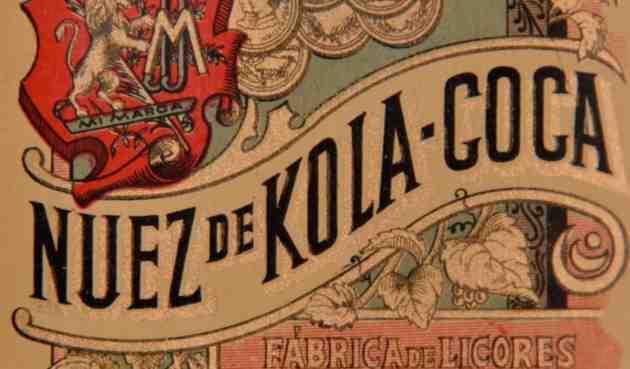 Etichetta vintage Kola-coca, alle origini della Coca-Cola spagnole