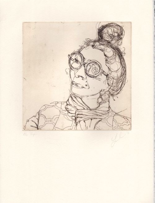 Hope etching by Soula Mantalvanos