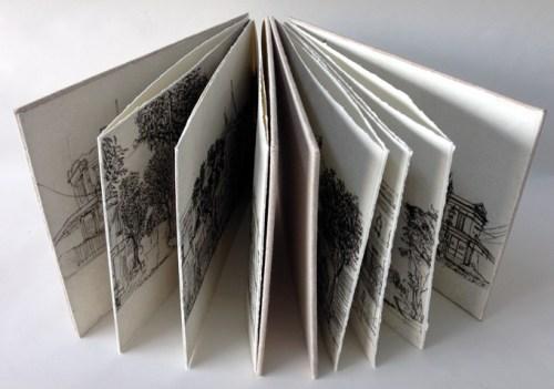 Gertrude Streetscape Artist Book, Soula Mantalvanos