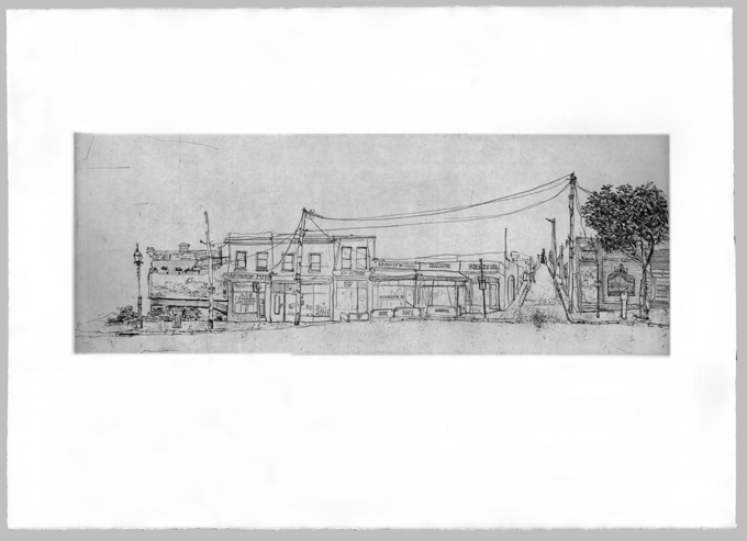 Gertrude Streetscape South Plate 1, Soula Mantalvanos