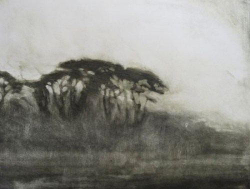 Anne Spudvilas_Evening - on the road l monoprint