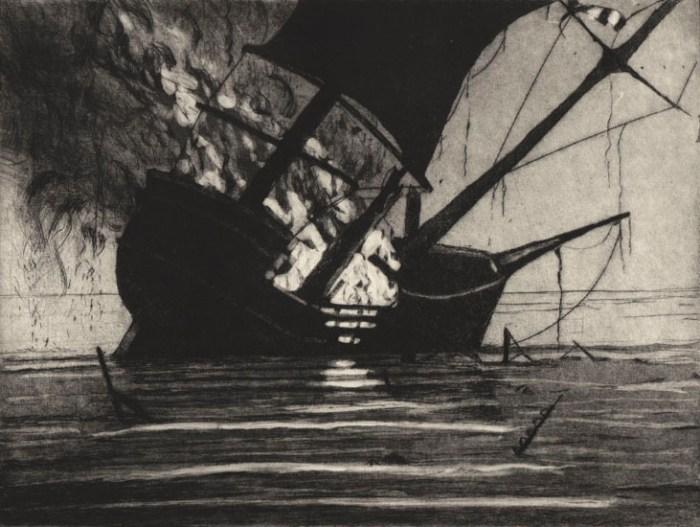 Davey Philip_Burning ship The Hydaspe