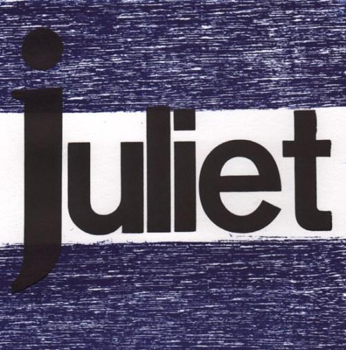 J Juliet_ Clyde McGill Qgw Lettered print exchange