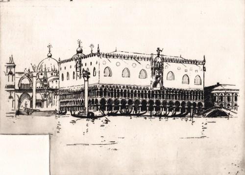 Sir Arthur Streeton Doge's Palace, Venice.sm