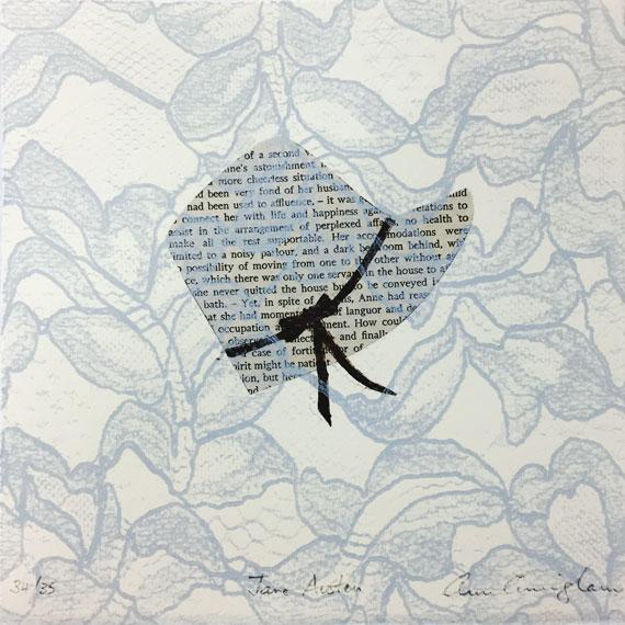Ann-Cunningham--Jane-Austen--Jane-Austen-Text-of-'Persuasion'--Stencil-,-lace-colograph