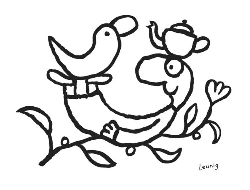 Michael-Leunig-Playful-Creature-ink-drawing