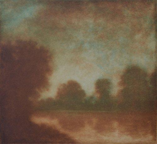 Wayne Viney Etching-River-Light