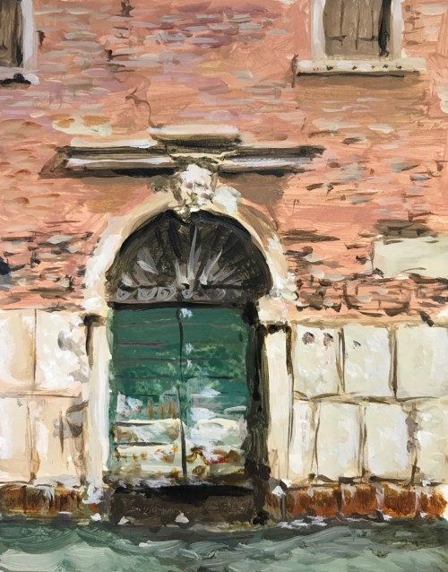 Soula Mantalvanos Canal and Green Door, Venice