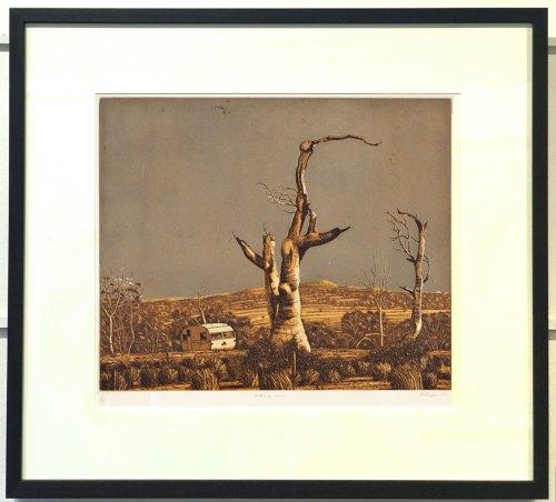 David-Frazer-Caravan-halfWay-Home-etching-framed