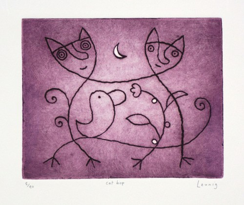 Michael-Leunig cat bop