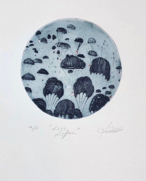 Lisa Sewards_Love Letters_etching