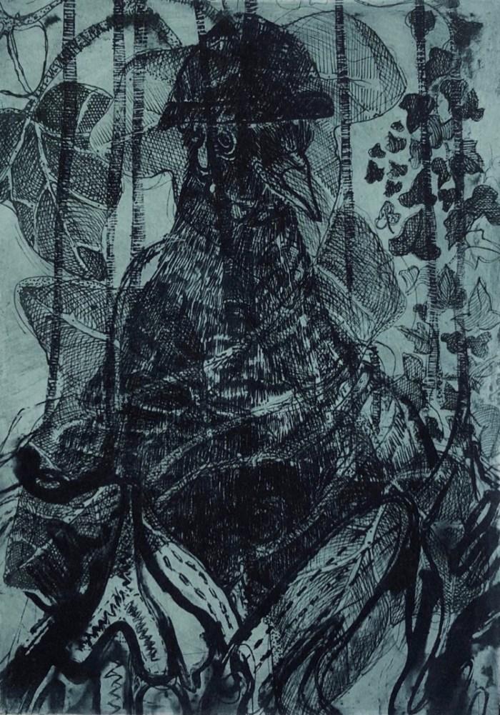 Lisa Sewards_Messenger Pigeon_A/P_etching