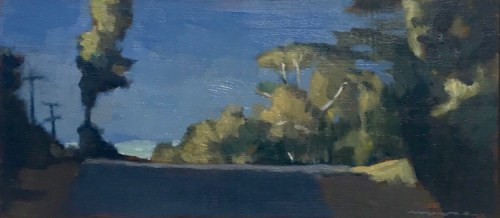 David Moore Winter Sky Oil on wood panel 14cmx32cm $1600.tif