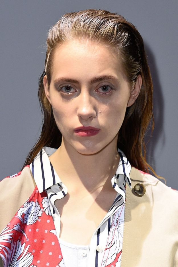 The City: New York The Show: Thakoon The Look: Wet look hair