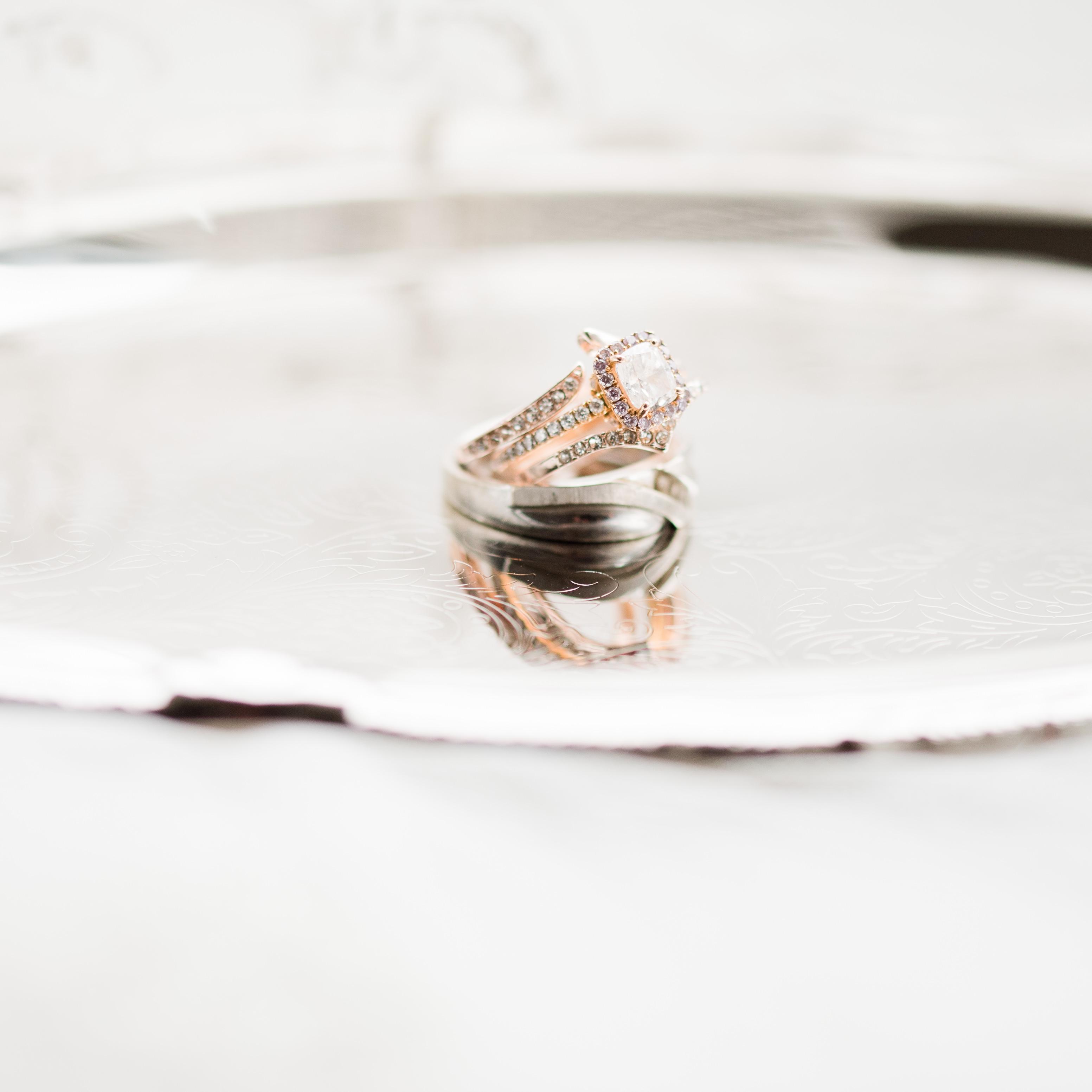 rose gold wedding ring, rose gold engagement ring, wedding photographer near Gibbet Hill, Groton, MA, Boston photographer