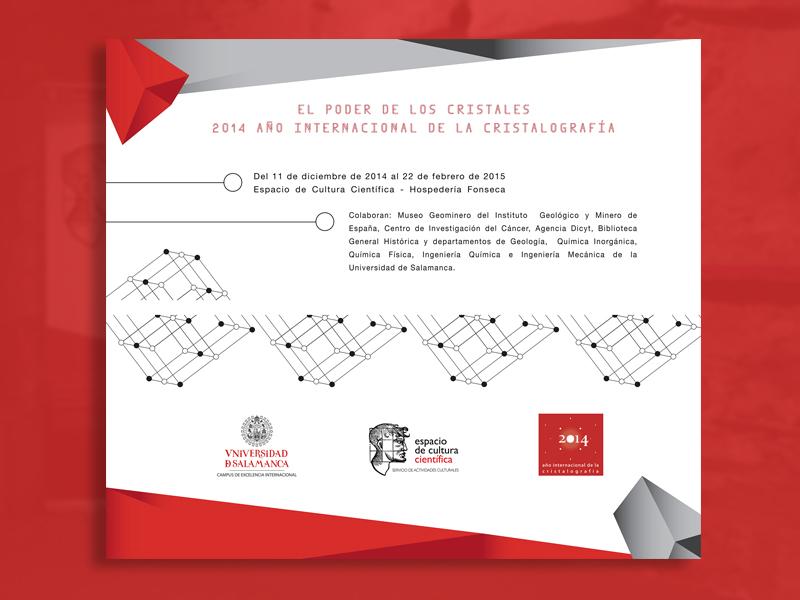 Diseño expositivo Cristalografía 2015
