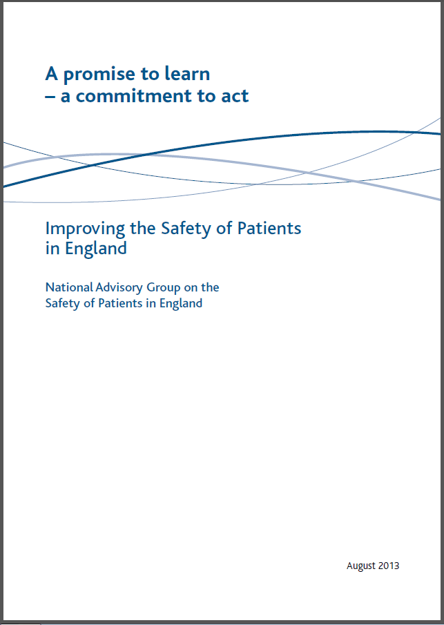 The Berwick Report  A Promise to Learn  a commitment to