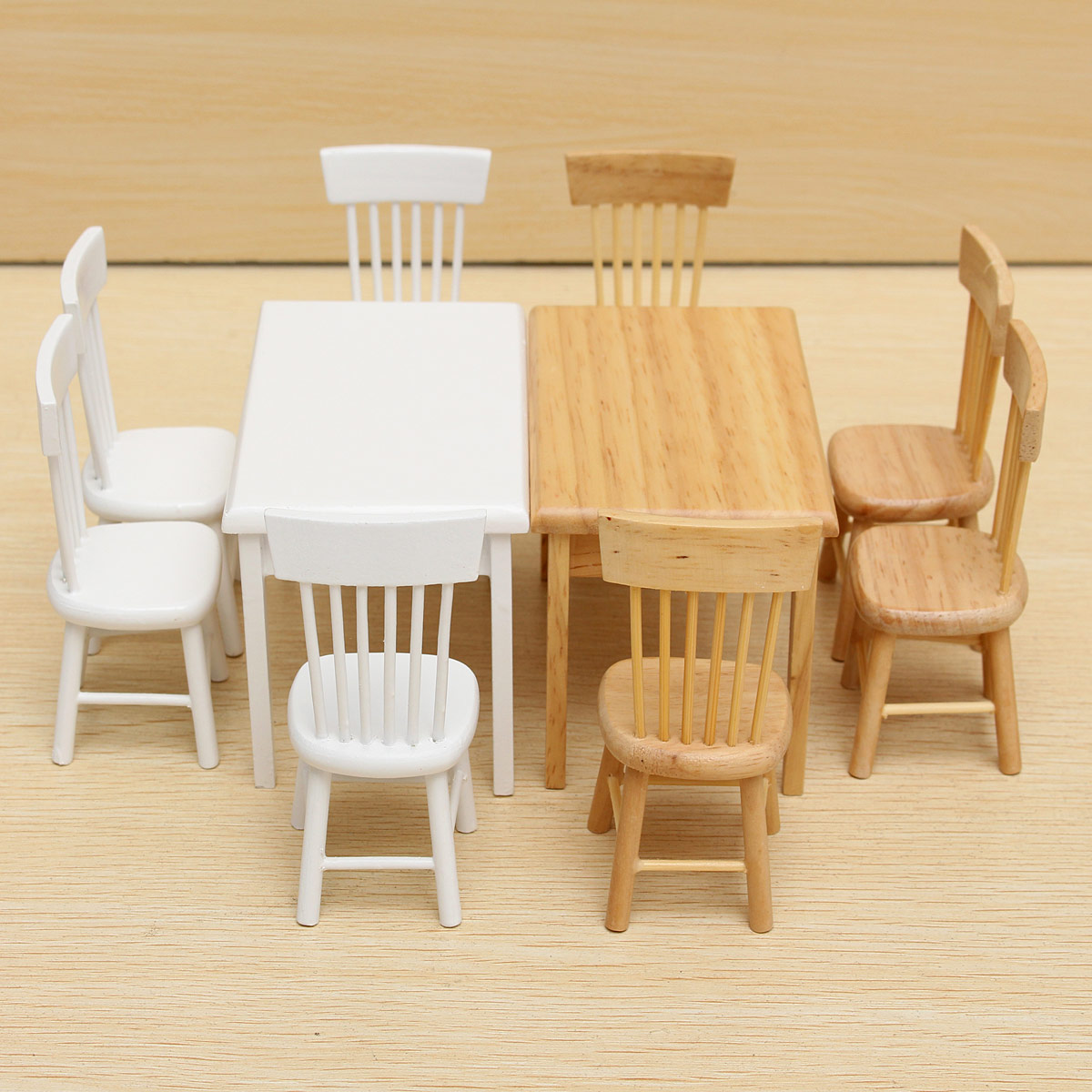 Miniature Chairs 1 12 Dollhouse Miniature Furniture Wooden Dining Room
