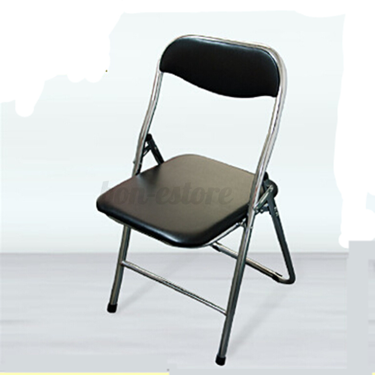 Soft Folding Chairs Folding Chair Black Portable Soft Advanced Leather Smooth