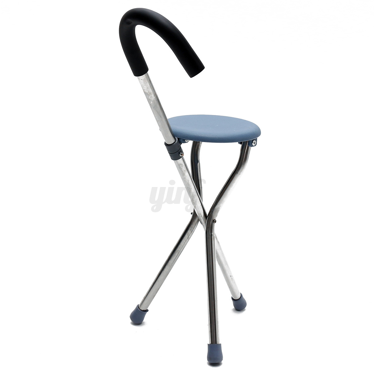 Walking Chair Lightweight Folding Tripod Cane Hiking Chair Portable