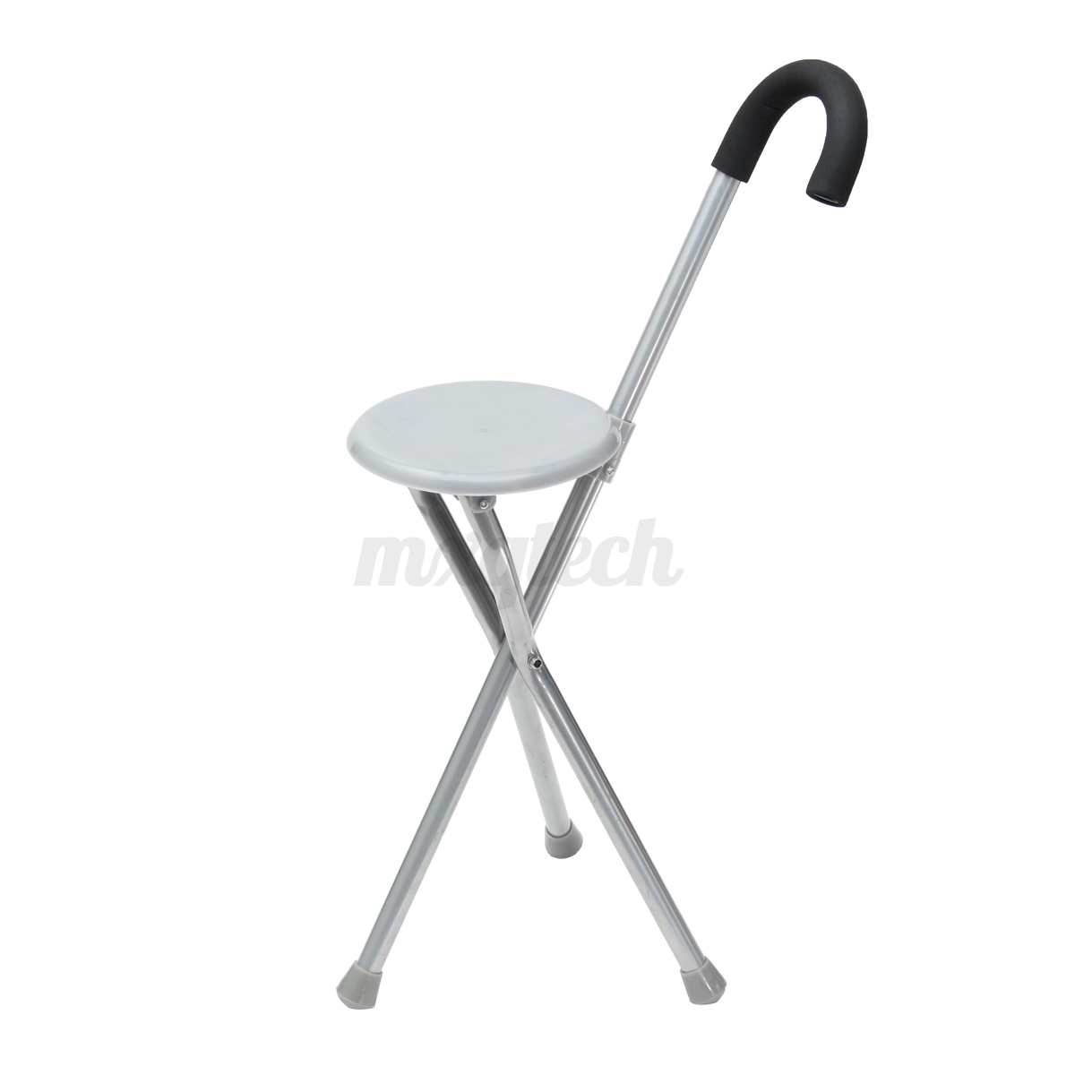 Walking Chair Folding Tripod Cane Hiking Chair Portable Walking Stick