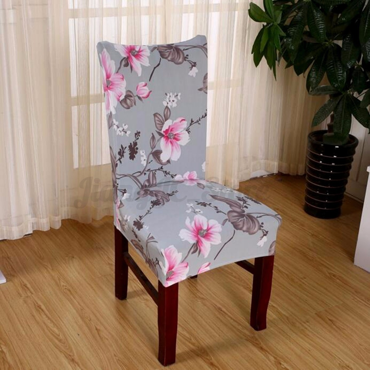 Kitchen Chair Seat Covers 6x Removable Stretch Seat Chair Cover Dining Kitchen