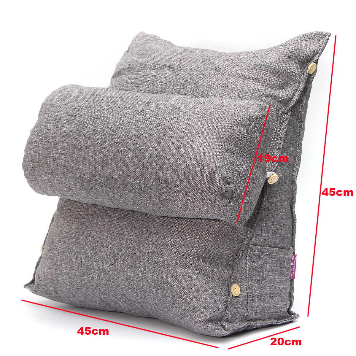 Bed Chair Pillow Adjustable Fip Pillow Sofa Bed Office Chair Rest Neck