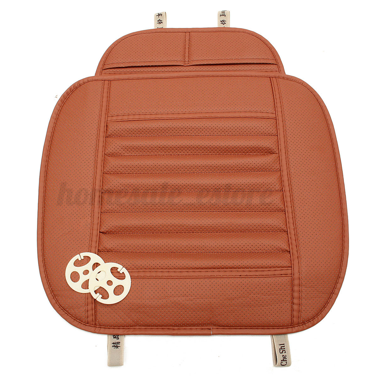Chair Pad Covers Pu Leather Bamboo Car Front Seat Protect Mat Cover Pad