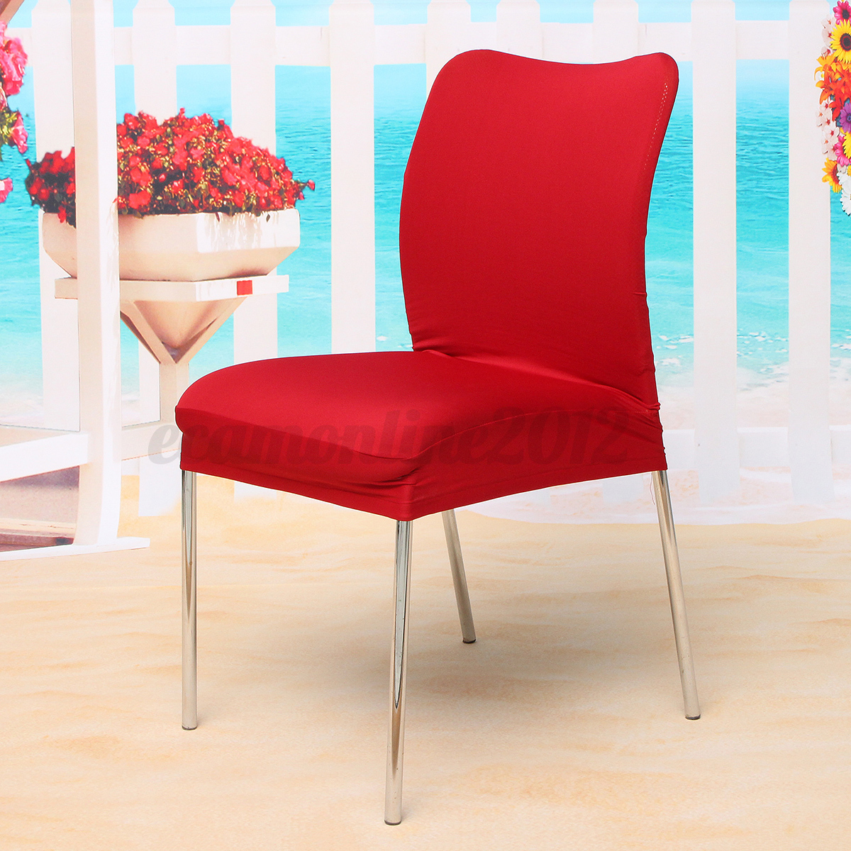 Kitchen Chair Seat Covers Stretch Spandex Dining Seat Chair Covers Kitchen Xmas
