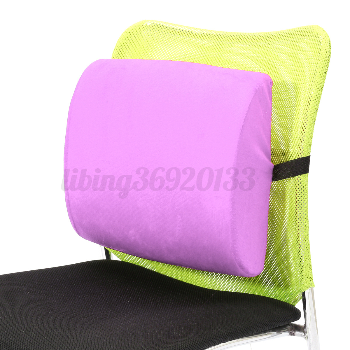 Back Support Chair Memory Foam Lumbar Cushion Travel Pillow Car Flight Seat