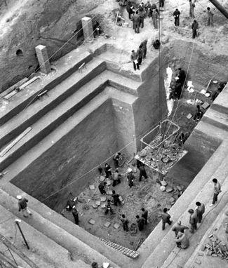 Las excavaciones arqueológicas de Mawangdui en Changsha.
