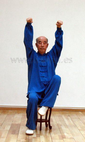 Daoyin Shi Er Fa sentado del profesor Zhang Guangde