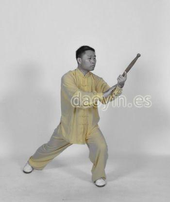 El profesor Zhang Jian practicando Yangsheng Taiji Bang