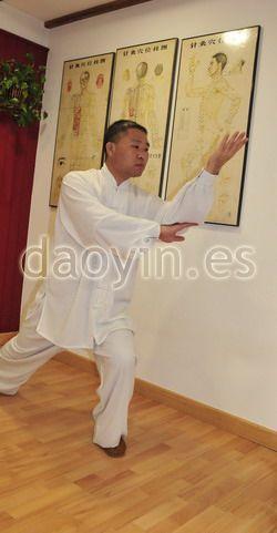 El profesor Zhang Jian practicando Yangsheng Taiji Zhang en España