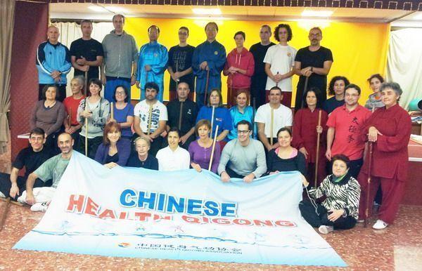 Primer curso en España de Taiji Yangsheng Zhang impartido por Chinese Health Qigong Association.