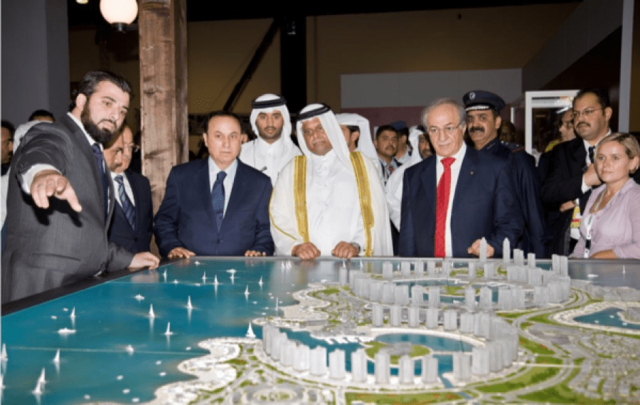 Project presentation: Anas Alsaqati with Ministers from Qatar, Syria and Lebanon.