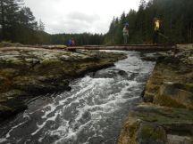 Bridge over lagoon outlet