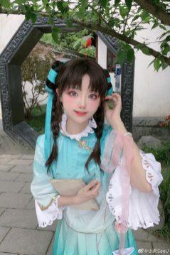#王者荣耀##西施江南少女皮肤# 西施cos:... 来自小柔SeeU - 微博