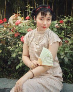 1940年代のチャイナドレス/民国時期の風情。柳花痴狂提供。