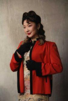 1940年代ビンテージ旗袍。Sylvette提供。
