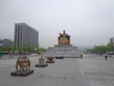 patung King sejong penemu Hangul