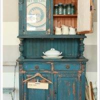 a chippy farmhouse cupboard.