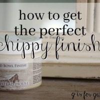 how to get the perfect chippy finish.