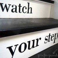 please watch your step.